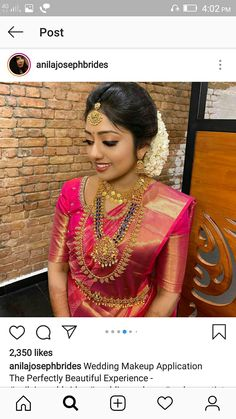 Kerala Hindu Bride, Kerala Wedding Saree, South Indian Bride Saree, Indian Bridal Sarees, Saree Wedding, Bridal Beauty, Bridal Makeup, Wedding Pics, Wedding Day