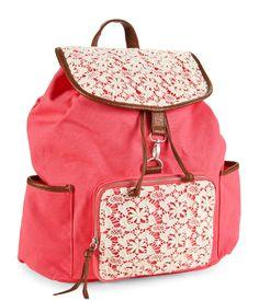 Floral Crochet Backpack - Aeropostale I absolutely Love this backpack! Crochet Backpack, Backpack Purse, Crochet Pouch, Cute Backpacks, Girl Backpacks, Sports Backpacks, Fashion Bags, Fashion Backpack, Cute Purses