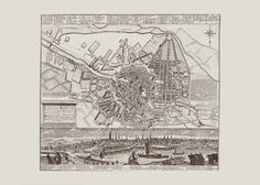 ANTIQUE BERLIN MAP Map of Berlin Germany by EncorePrintSociety