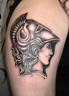 Athena head - I'm done getting tattoos (until I retire) but this is awesome!