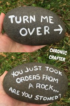 Stoned and Painting a Rock