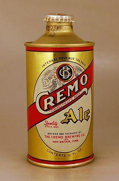 Cremo Ale c.1940 Old Beer Cans, New Britain, Beer Brands, Beer Labels, Craft Beer, Beer Bottle, New England, Cheers, Brewing