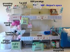 great set up Diy Bunny Cage, Diy Guinea Pig Cage, Guinea Pig Hutch, Guinea Pig House, Bunny Cages, Baby Guinea Pigs, Guinea Pig Care, Pet Pigs, Hamster Bin Cage