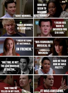 I think Puck should be somewhere saying how hot Kurt is, but this is still cute lol