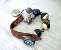 The End of Greatness Rustic Bracelet with by fancifuldevices,