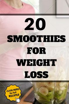 20 Smoothies Recipes For Weight Loss Fat Burning. Want to lose weight with smoothies? Here are the 20 Smoothies recipes for weight loss fat burning, these smoothies recipes are simple to mak Weight Loss Meals, Weight Loss Drinks, Weight Loss Smoothies, Fast Weight Loss, Healthy Weight Loss, Breakfast Smoothies For Weight Loss, Weight Loss For Women, Fat Fast, How To Lose Weight Fast