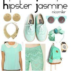 Hipster Jasmine cosplay/costume