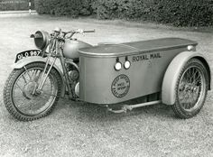 Delivery motorcycle - BSA postal combination by British Postal Museum & Archive, via Flickr