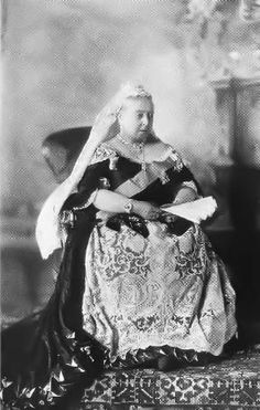 Queen Victoria, 1893, wearing her wedding lace