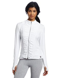 Fila Women's Baseline Jacket (White, Small) by Fila. $60.00. Cruise the baseline, the mall, salon or anywhere else in this jacket.