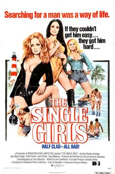 The Single Girls (aka Private School) (1974, USA) / exploitation slasher thriller poster art