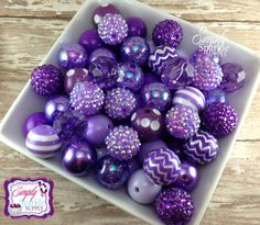 Purple Bulk Wholesale lot 100 chunky bead  mix solids dots and rhinestones 20 mm wholesale chunky beads peach with dots by SimplySparkleSupply on Etsy https://www.etsy.com/listing/214571151/purple-bulk-wholesale-lot-100-chunky