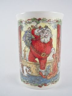 Victorian Print Mug Dunoon Santa's Arrival by MSMUnlimited on Etsy