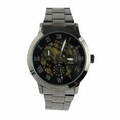 MapofBeauty Unisex's edelstahl Stahl Uhrenarmband Automatik Selbst Wind rund Mechanische Uhren (Schwarz Uhrenarmband / Schwarz Zifferbltter) - http://uhr.haus/mapofbeauty/mapofbeauty-unisexs-edelstahl-stahl-automatik-3