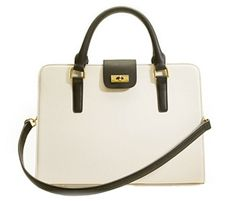 J. Crew Edie Attache Bag....black + white goes w/ everything.