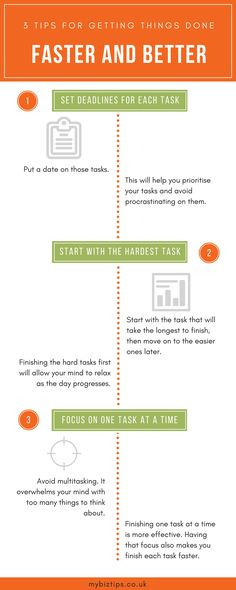 Saturday Biz Tip: 3 Tips for Getting Things Done Faster and Better [Infographic]