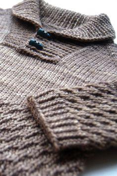 Boy Sweater knitting pattern by Lisa Chemery - Frogginette Knitting Patterns