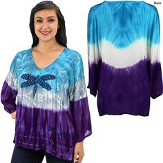 Dragonfly Blues Long Sleeve Tunic at The Animal Rescue Site Winter Sale $21.99