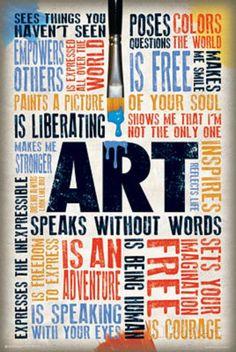 Art Speaks Without Words Poster Láminas en AllPosters.es