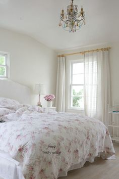 Inspired and romantic living, entertaining, traveling and decorating in a French Country Cottage in the California countryside. #frenchdecorating | Shabby Chic Bedroom Ideas for Women | #shabby #chic #shabbychic #bedroom