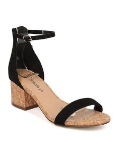 Breckelle's Women Cork Block Heel Sandal - Ankle Strap Sandal - Minimalist Low Heel Sandal - HK32 -- Be sure to check out this awesome product. (This is an affiliate link) #womenshoes