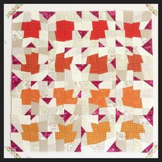 Ta da! Ok, it took a little longer than I thought, but that's only because I was messing around with the block layout for ages. That's the great thing about this #improv technique, the possibilities are endless. Want to learn to make a quilt like this? Come along to #glampstitchalot in November where I'll be teaching. My fellow teachers are awesome and will be sharing their own improve sewing secrets too. It's going to be so much fun! Visit @pinkcastlefabrics for all the details...be quick…