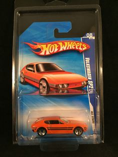 2010 Hot Wheels All Stars VOLKSWAGEN SP2 Orange VW #126 R7551 1:64 w/ PROTECTO #HotWheels #Volkswagen
