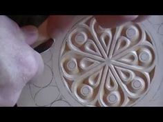 Chip carving - removing pattern lines - YouTube