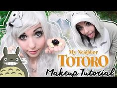 My Neighbor Totoro Inspired Makeup Tutorial - YouTube