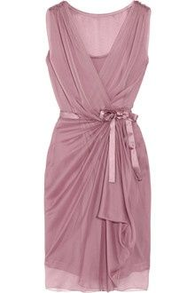 Alberta Ferretti Silkchiffon Wrap Dress in Purple