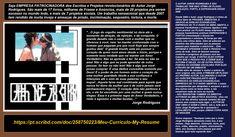 SEJA #EMPRESÁRIO DOS #ESCRITOS E #PROJETOS DO #AUTORJORGERODRIGUES ou COMPRE SEUS MAIS 17 SEUS LIVROS Qualquer livro do #autorJorgeRodrigues no CLUBE DE AUTORES em média de R$ 27,00 pra você comprar qualquer #livro. Visite as duas páginas do autor.  TODO O MEU TRABALHO >>> https://pt.scribd.com/doc/258750223/Meu-Curriculo-My-Resume DIVERSOS GÊNEROS ( #Romances, #Monografias, Instrumentos musicais, #Manuais) #ARTE MARCIAL  #SIMFUJE http://clubedeautores.com.br/authors/63447 ARTE MARTIAL…
