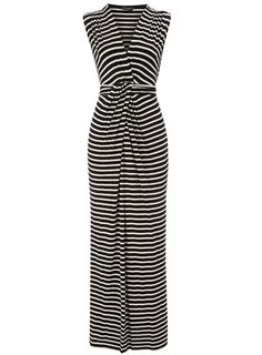 so wear this black/ivory wrap maxi dress lounging around a swank beach patio drinking a cocktail