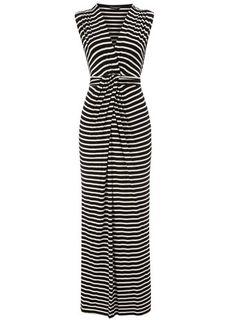 Dorothy Perkins  Black/ivory wrap maxi dress