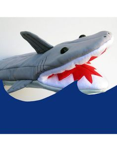 Handmade Shark Character Oven Mitt - Collisionware : A Unique Gifts Website