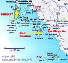 ko kradan, island map