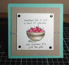 Card made by myself using GIGGLE GREETINGS Stamp set by Stampin' Up! :)