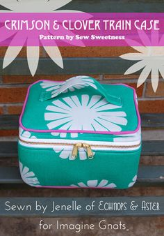selfish sewing week: crimson and clover train case Small Sewing Projects, Sewing Crafts, Bag Patterns To Sew, Sewing Patterns, Boite A Lunch, Train Case, Craft Bags, Fabric Bags, Sewing Accessories