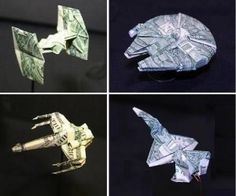 star wars dollar origami - Star Wars Models - Ideas of Star Wars Models - star wars dollar origami Star Wars Origami, Origami Star Box, Origami Ball, Origami Fish, Origami Love, Origami Design, Origami Stars, Origami Flowers, Origami Gifts