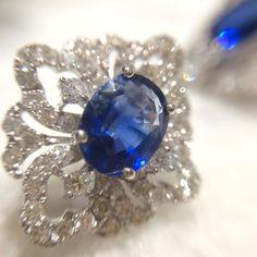 Something blue...  #safira #diamantes #Jewelry