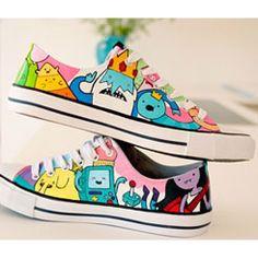 c145ede1f0a3 Adventure Time Shoes Custom Jack and Finn on High Top Anime Shoe