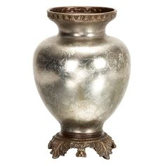 Aspire Antique Style Silver Vase