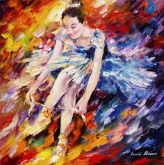 Beautiful Oil painting By Leonid Afremov. CLick image to see my official site