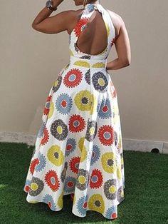 Ericdress Print Floor-Length Sleeveless Standard-Waist Pullover Dress Source by fashion dresses Latest African Fashion Dresses, African Dresses For Women, African Print Dresses, African Print Fashion, Africa Fashion, African Attire, African Inspired Fashion, Ankara Fashion, African Men