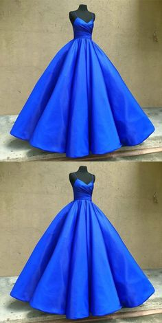 light royal blue prom dresses, sexy spaghetti straps prom gowns,dresses for women, women's dresses