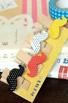 Japanese Style Wooden Clip Set