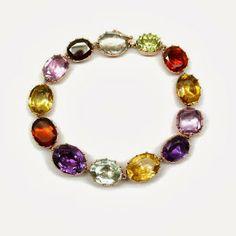 Multi coloured bracelet SJ Philips Ltd Circa 1800 harlequin