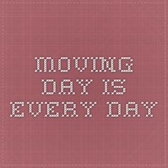 Moving day is every day The danger of to much sitting