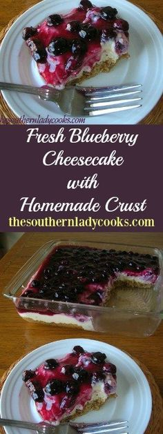 the-southern-lady-cooks-fresh-blueberry-cheesecake (Peach Cheesecake Recipes) Blueberry Desserts, Cheesecake Desserts, Köstliche Desserts, Delicious Desserts, Yummy Food, Cheesecake Crust, Blueberry Cake, Blueberry Topping For Cheesecake, Blueberry Ideas
