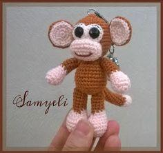 Samyelinin Örgüleri: Maymun Anahtarlık Tarifi / Monkey Keychain Free Pattern