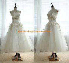 Glamoures schöne Brautkleid A-Linie 2013 aus Organza mit Applikation